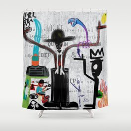 CITY OF GLASS: AMERICAN KABUKI Shower Curtain