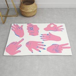 trans hands Rug