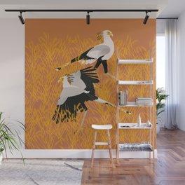 Secretary bird Wall Mural