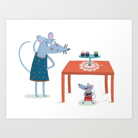 Missing cupcake Art Print