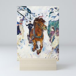 Galloping Horse by Edvard Munch Mini Art Print