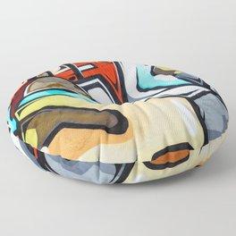 Wall Graffiti Floor Pillow