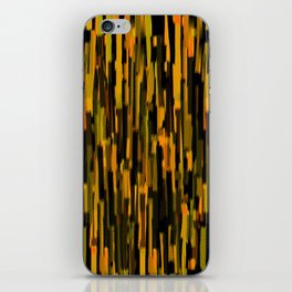 vertical brush orange version iPhone Skin