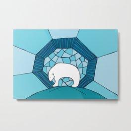 Polar Blue Metal Print