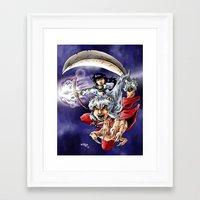 inuyasha Framed Art Prints featuring Inuyasha & Kagome by MarioRojas