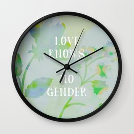 Love Knows No Gender Wall Clock