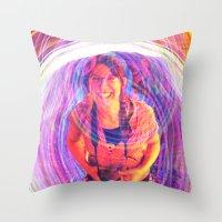 wasted rita Throw Pillows featuring Rita by Karl Doerrer-Attaway