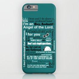 Supernatural - Castiel Quotes iPhone Case