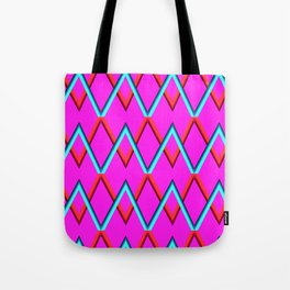 colored zigzags Tote Bag
