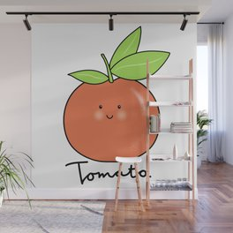 Tomato illustration Wall Mural