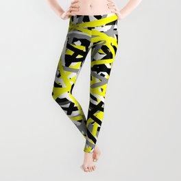 Yellow Criss Cross Leggings
