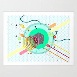 Tasty Visuals - Speaker Blast Art Print