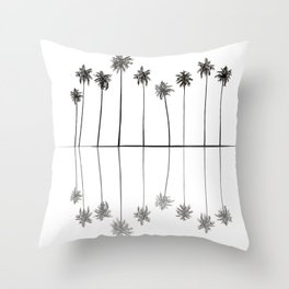 Palm Reflections II Throw Pillow