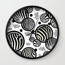 Zebra Circles Wall Clock