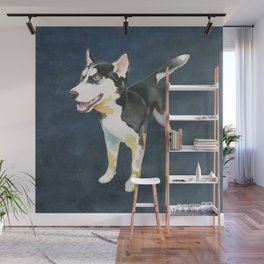 Husky Puppy Wall Mural