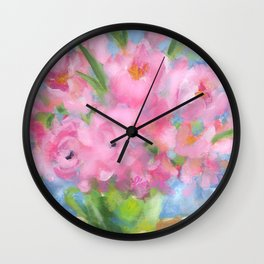 Teacup Pinks Wall Clock