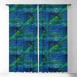 Sea Glass 3D Flame Fractal Blackout Curtain