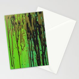 Green, Black, & Gold Stationery Cards