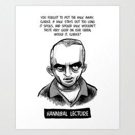 Hannibal Lecture Art Print