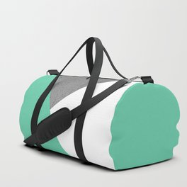Concrete vs Aquamarine Geometry Duffle Bag