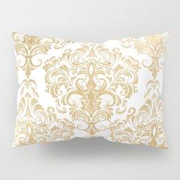 Gold foil swirls damask 15 Pillow Sham
