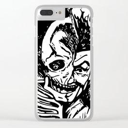 Half Man, Half Skelton Clear iPhone Case