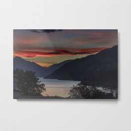 Sunset over Queenstown and Lake Wakatipu Metal Print
