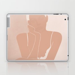 Minimal illustration of a Woman Laptop & iPad Skin