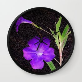 Mexican Petunias Wall Clock