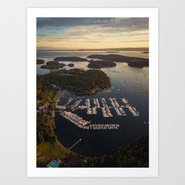 Roche Harbor Art Print
