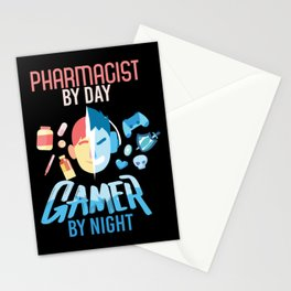 Pharmacist By Day Gamer By Night Stationery Cards