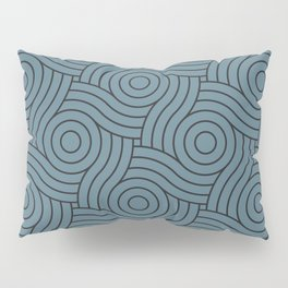 Circle Swirl Pattern Inspired by Behr Color of the Year 2019 Blueprint Blue S470-5 Pillow Sham