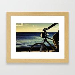 Waikiki stroll Framed Art Print