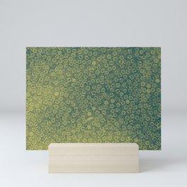 Green Background Mini Art Print