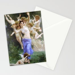 The Invasion (The Wasp's Nest) Le Guêpier by William-Adolphe Bouguereau Stationery Cards