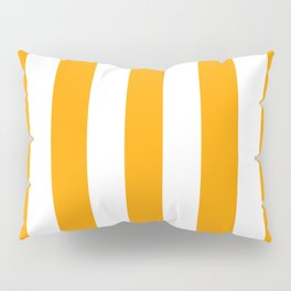 Orange peel - solid color - white vertical lines pattern Pillow Sham