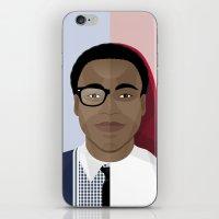 childish gambino iPhone & iPod Skins featuring Donald Glover x Childish Gambino by Mathieu Duparcq