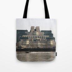 SIS Secret Service Building London And Rib Boat Tote Bag