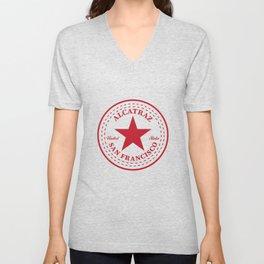 Alcatraz Star T-Shirt Funny Penitentiary Jail Prisoner Tee Unisex V-Neck
