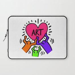 """Keith Haring inspired """"I Love Art"""" Secondary Colors edition Laptop Sleeve"""