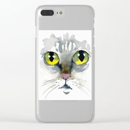 Cat's Eyes Clear iPhone Case