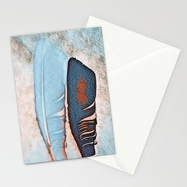 Two Feathers Stationery Cards