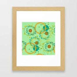 Concentric Green Framed Art Print