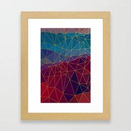 Autumn abstract landscape 7 Framed Art Print