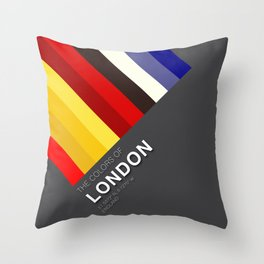 Colors of London Throw Pillow