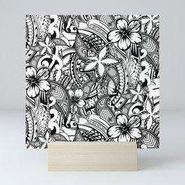 Hawaiian Polynesian Trbal Tatoo Print Mini Art Print