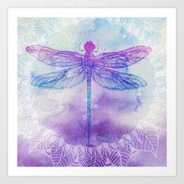 Mandala Dragonfly Art Print
