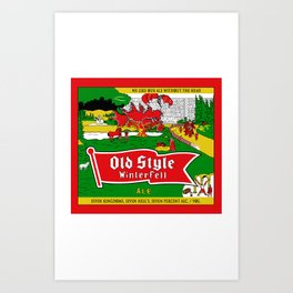 Old Style Northern Ale Art Print