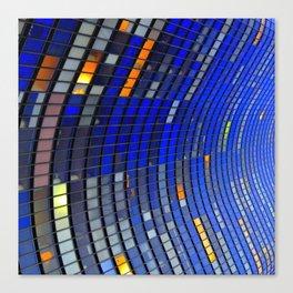 Big Blue Blocks Canvas Print