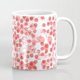 Cherry Polka Dots Distressed Coffee Mug